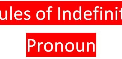 Rules of Indefinite Pronoun
