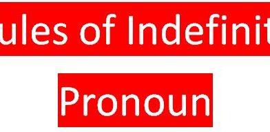Rules of Indefinite Pronoun
