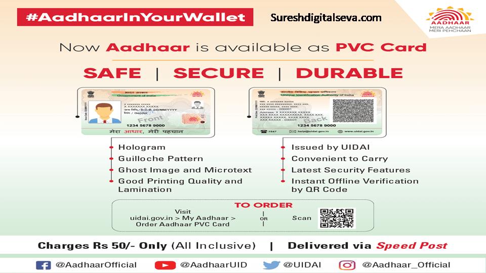 new aadhaar pvc
