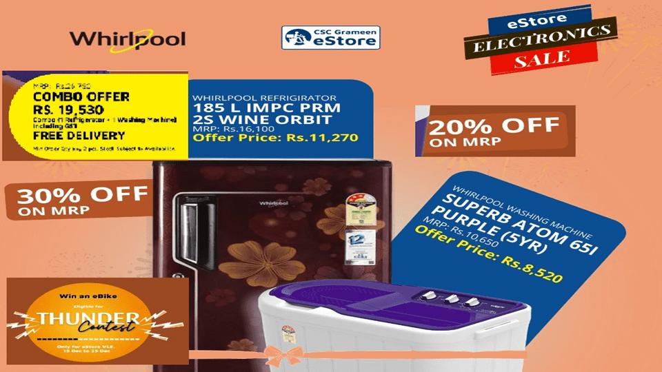 whirlpool refrigerator washing machine